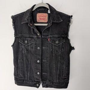 Levi S Jackets Coats Mens Vintage Levis Black Denim Vest Poshmark